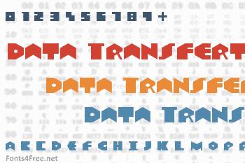 Data Transfert Font