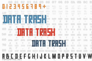 Data Trash Font