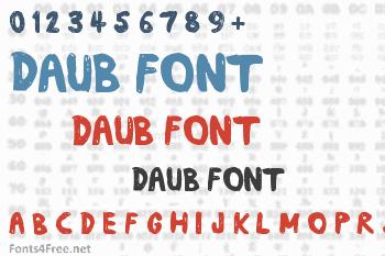 Daub Font