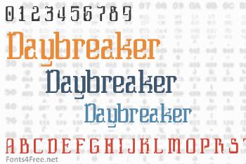Daybreaker Font