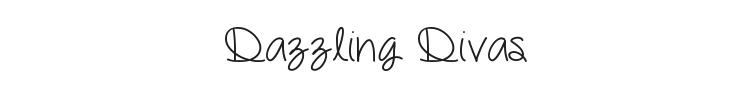 Dazzling Divas Font Preview