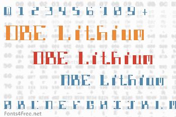 DBE Lithium Font