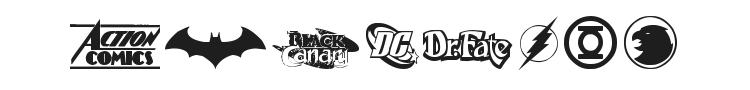 DC Comics Font Preview