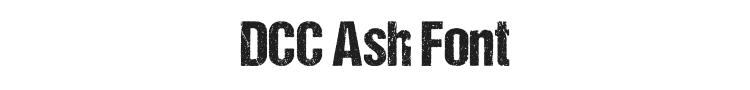 DCC Ash Font Preview