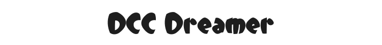DCC Dreamer Font Preview