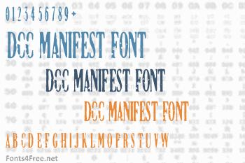 DCC Manifest Font