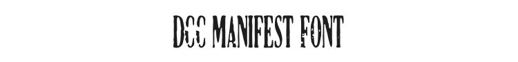 DCC Manifest Font Preview