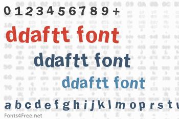 DdaftT Font