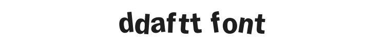 DdaftT Font Preview