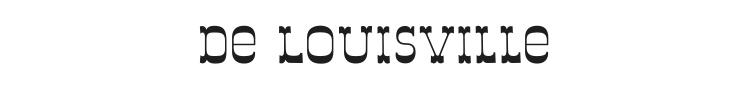 De Louisville Font Preview