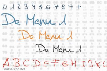 De Manu 1 Font