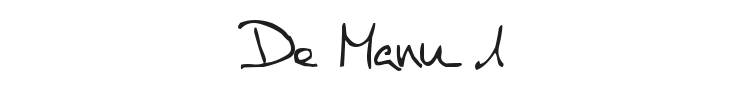 De Manu 1 Font Preview