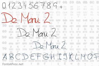 De Manu 2 Font