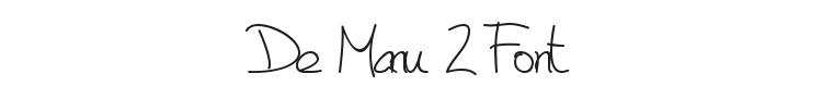 De Manu 2 Font Preview