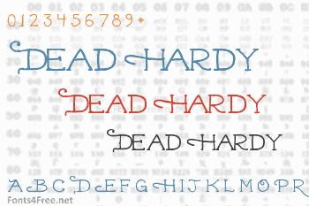 Dead Hardy Font