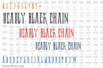 Deadly Black Chain Font