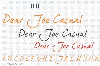 Dear Joe 5 Casual Font