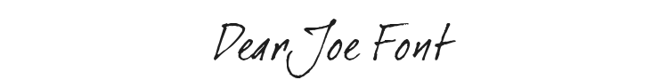 Dear Joe Font