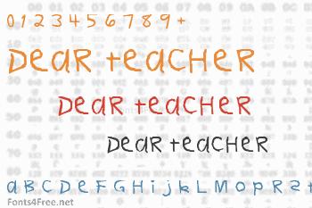 Dear Teacher Font