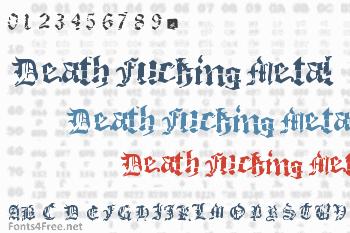 Death Fucking Metal Font