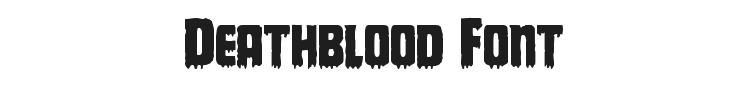 Deathblood Font Preview