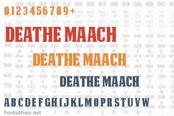 Deathe Maach Font