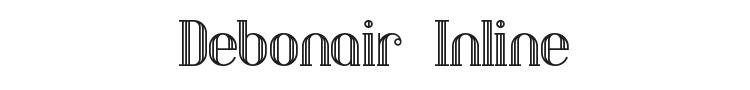 Debonair Inline Font