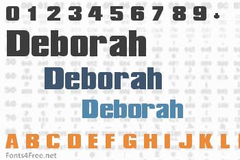 Deborah TEH Font