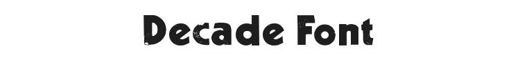Decade Font