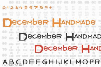December Handmade Font