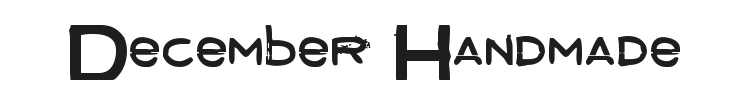 December Handmade Font Preview