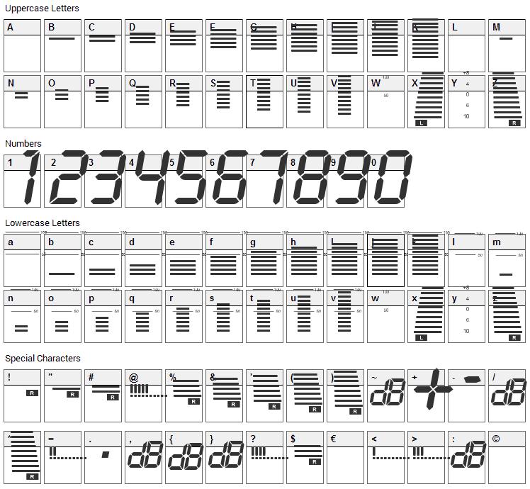 Decibel Dingbats Font Character Map