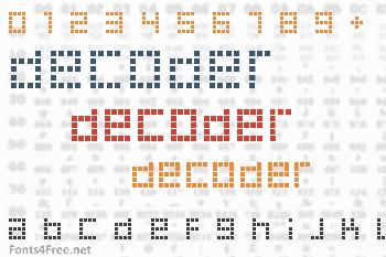 Decoder Font
