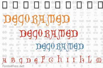 Decorated Majuscules Font