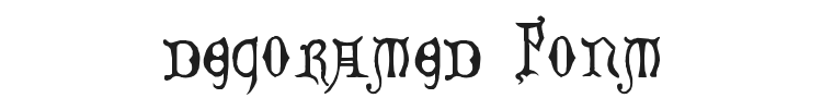 Decorated Majuscules Font Preview