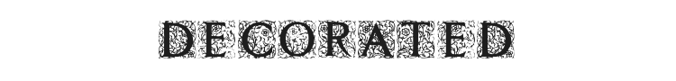 Decorated Roman Initials Font Preview