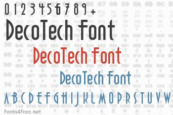 DecoTech Font