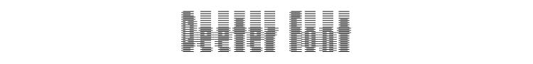 Deeter Font Preview