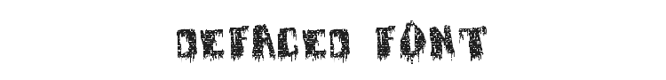 Defaced Font Preview