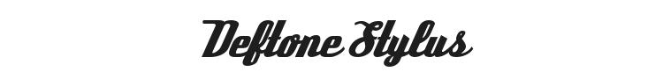 Deftone Stylus Font Preview