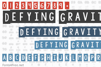Defying Gravity Font
