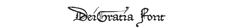 DeiGratia Font Preview