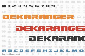 Dekaranger Font