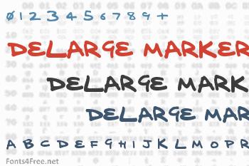 Delarge Marker Pen Font
