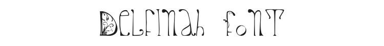 Delfinah Font Preview