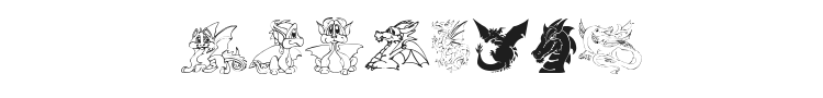 Delightful Lil Dragons Font