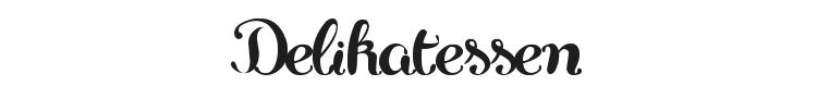 Delikatessen Font Preview