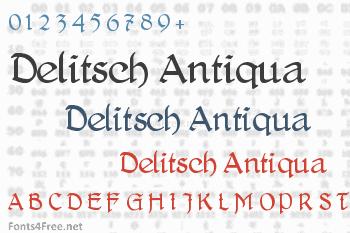 Delitsch Antiqua Font