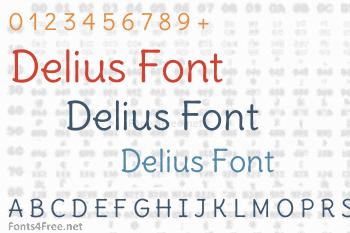 Delius Font