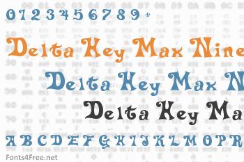 Delta Hey Max Nine Font